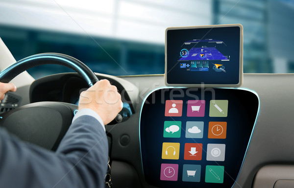 Homem gps condução carro Foto stock © dolgachov