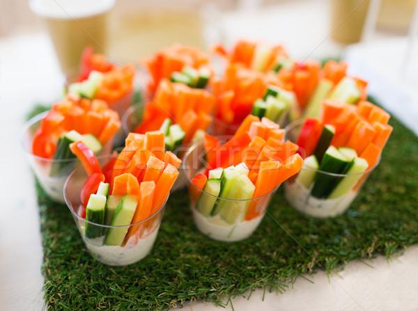 Vegetal lanches tabela decoração alimentação saudável Foto stock © dolgachov