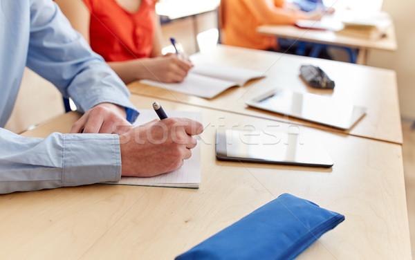 Zdjęcia stock: Student · piśmie · notebooka · szkoły · edukacji