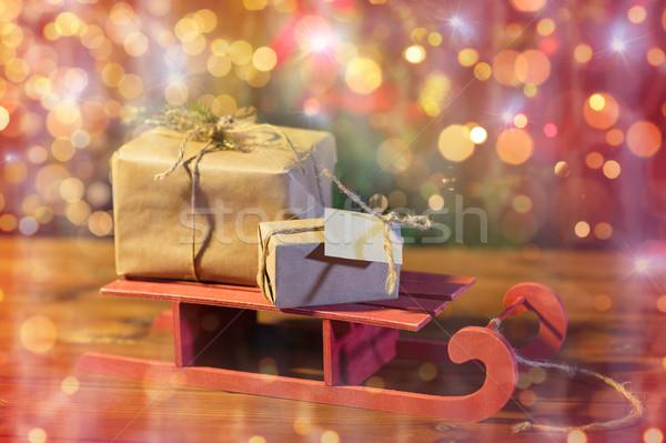 Рождества сани праздников Сток-фото © dolgachov