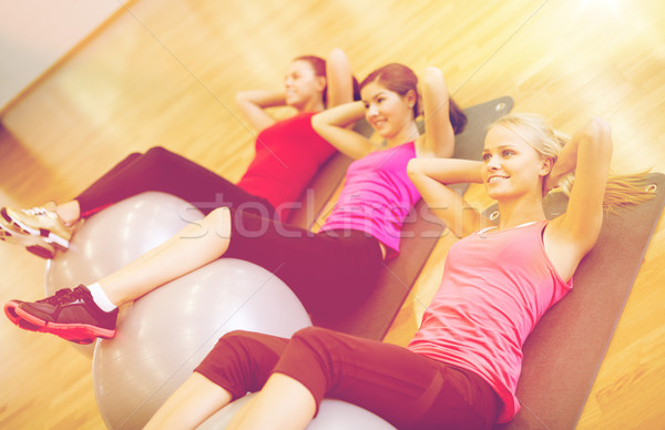 группа людей пилатес класс фитнес спорт Сток-фото © dolgachov