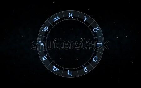 Znaki zodiak nieba gwiazdki astrologia horoskop Zdjęcia stock © dolgachov