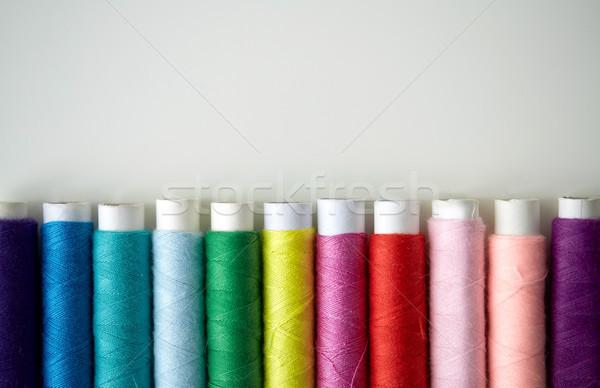 Renkli iplik tablo dikiş dikiş Stok fotoğraf © dolgachov