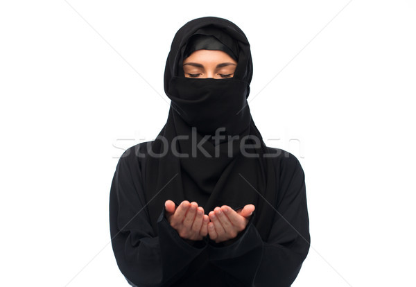 Prière musulmans femme hijab blanche religion Photo stock © dolgachov