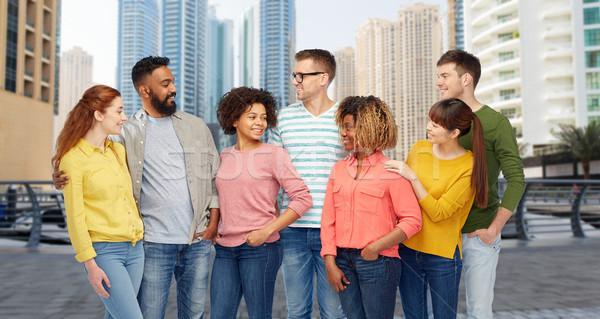 международных группа людей говорить город путешествия туризма Сток-фото © dolgachov
