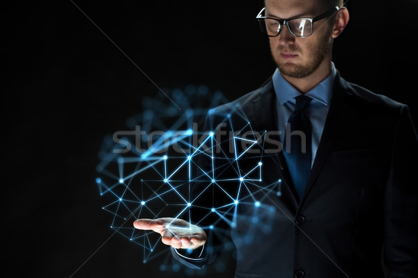 Empresario red proyección negocios virtual Foto stock © dolgachov