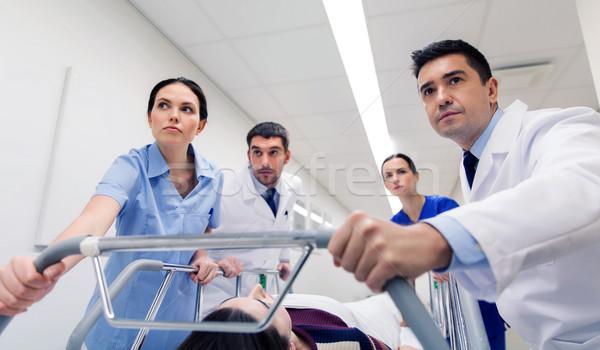 Donna ospedale emergenza professione persone Foto d'archivio © dolgachov