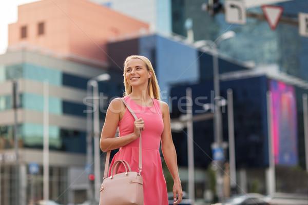 Boldog mosolyog fiatal nő figyelmeztetés életstílus emberek Stock fotó © dolgachov