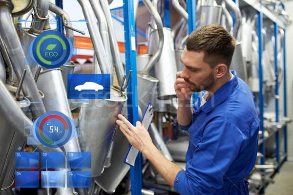 Meccanico auto chiamando telefono auto shop servizio Foto d'archivio © dolgachov