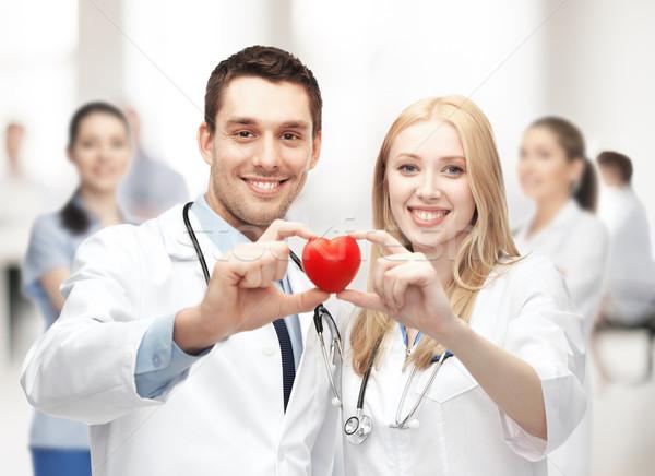 сердце здравоохранения медицинской женщину семьи группа Сток-фото © dolgachov