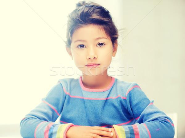 Diák lány iskola oktatás kicsi gyerekek Stock fotó © dolgachov