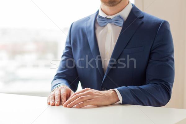 Foto stock: Homem · terno · tabela · pessoas · homossexual