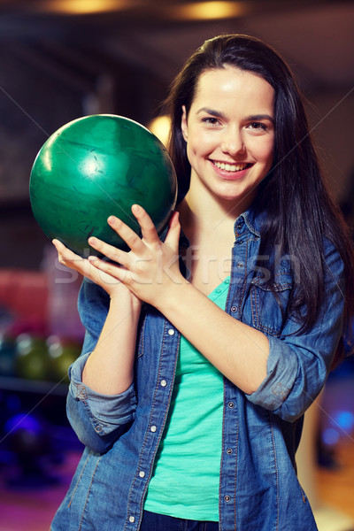 Feliz pelota bolera club Foto stock © dolgachov