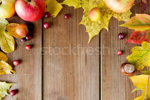 Stockfoto: Frame · vruchten · bessen · hout · natuur