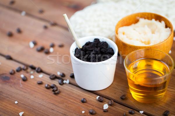 Stock fotó: Közelkép · kávé · bozót · csésze · méz · fa