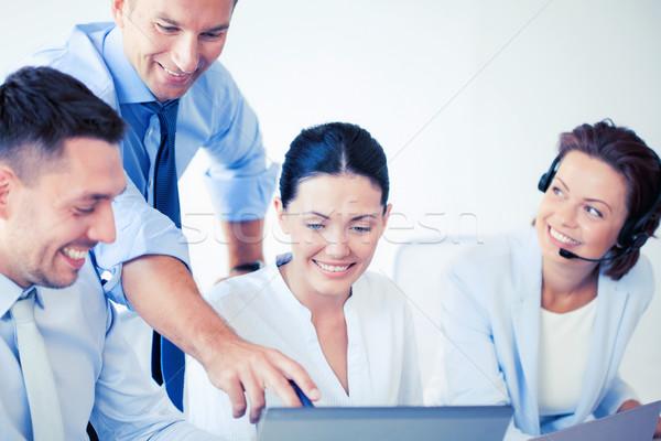 Gruppe Menschen arbeiten Call Center Bild Büro Business Stock foto © dolgachov