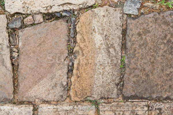 close up of paving stone outdoors Stock photo © dolgachov
