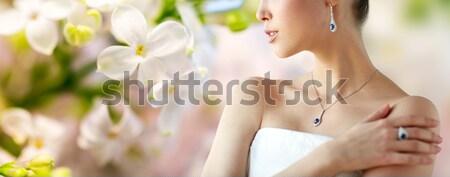 Photo stock: Belle · femme · doigt · anneau · glamour · beauté