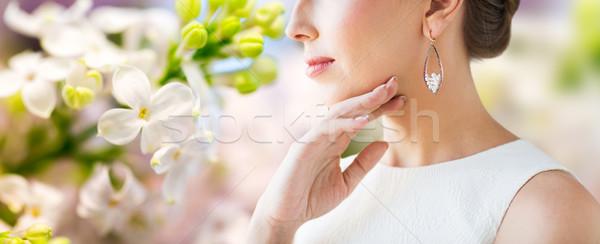 Belle femme visage boucle glamour beauté Photo stock © dolgachov