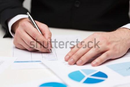 Handen stemming stemmen verkiezing Stockfoto © dolgachov