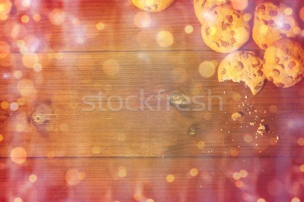 燕麦 クッキー 木製のテーブル 料理 ストックフォト © dolgachov
