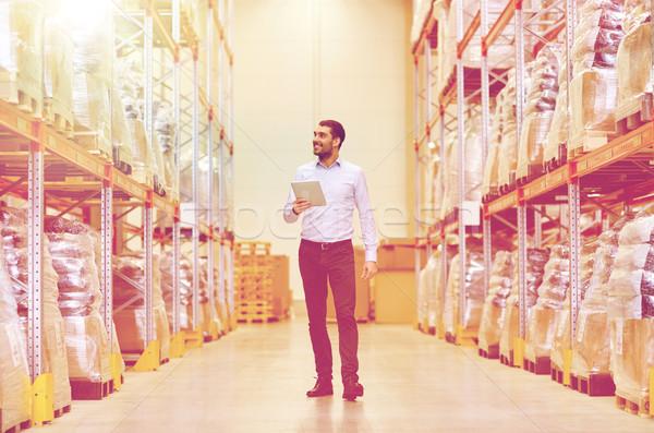 Gelukkig zakenman magazijn groothandel business Stockfoto © dolgachov