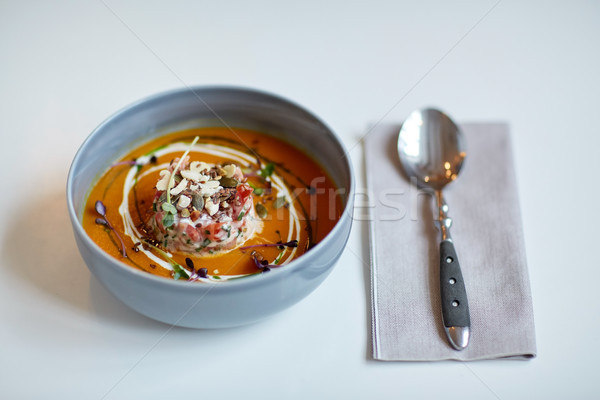 Zupa jarzynowa puchar żywności nowego Zdjęcia stock © dolgachov