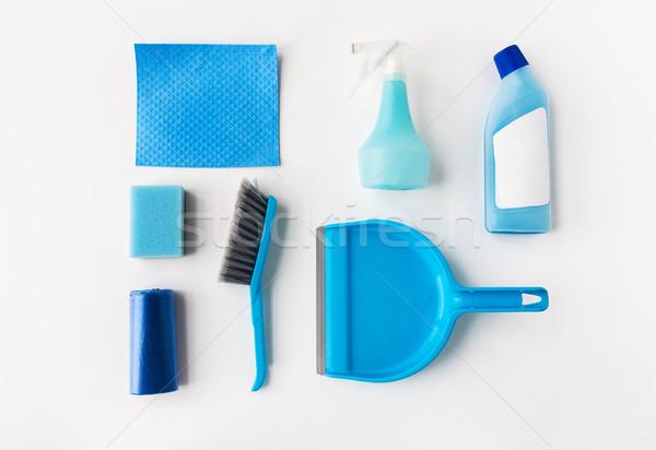 cleaning stuff on white background Stock photo © dolgachov