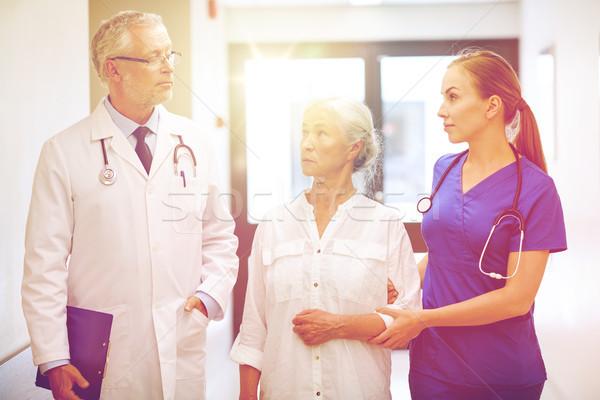Сток-фото: старший · пациент · женщину · больницу · медицина · возраст