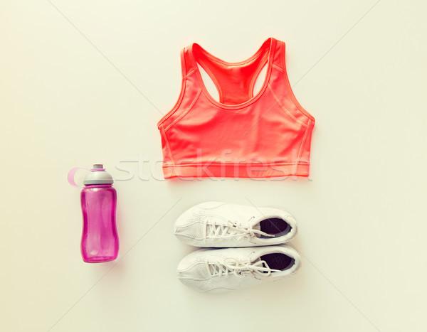 Vrouwelijke sportkleding fles ingesteld sport Stockfoto © dolgachov