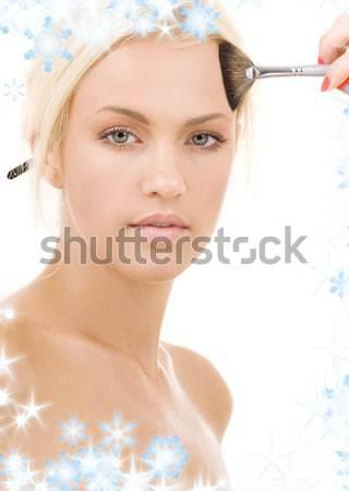 Zdjęcie topless biały kobieta Zdjęcia stock © dolgachov