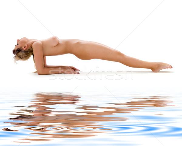 çıplak yoga klasik artistik çıplaklık stil Stok fotoğraf © dolgachov