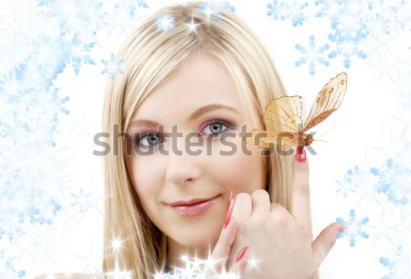 lovely fairy with magic wand Stock photo © dolgachov