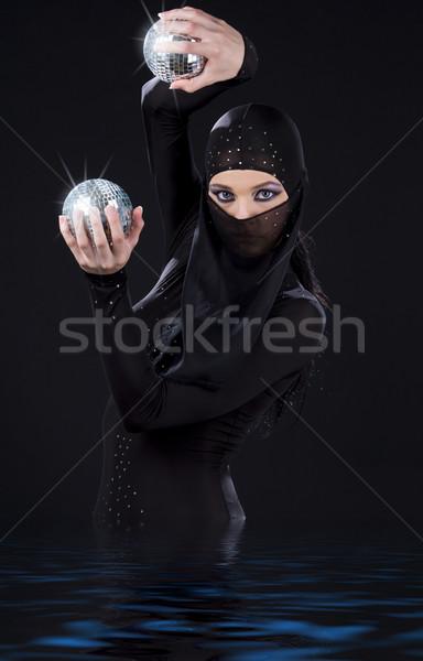 Ninja dans partij danser jurk disco Stockfoto © dolgachov