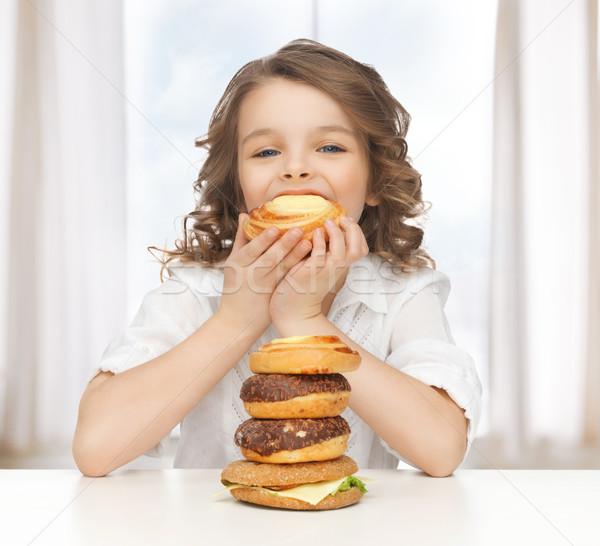 Meisje foto mooi meisje kinderen kid Stockfoto © dolgachov