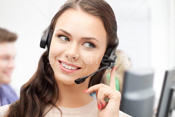 телефон доверия оператор наушники бизнеса технологий Сток-фото © dolgachov