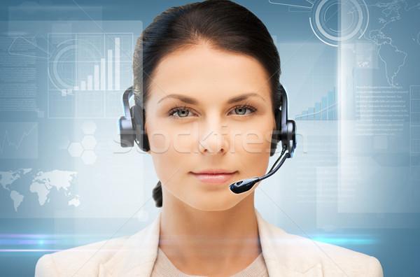 Línea de ayuda negocios oficina tecnología futuro amistoso Foto stock © dolgachov