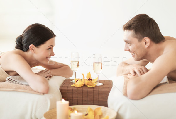 Stock photo: couple in spa