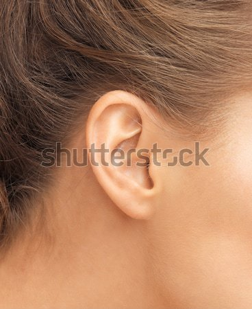 уха здоровья красоту пирсинга женщину Сток-фото © dolgachov