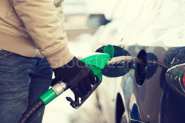 男性 車 燃料 タンク 車両 ストックフォト © dolgachov