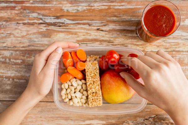 手 精進料理 ボックス 健康的な食事 ダイエット ストックフォト © dolgachov