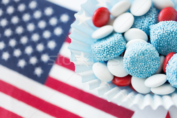 candies with american flag on independence day Stock photo © dolgachov