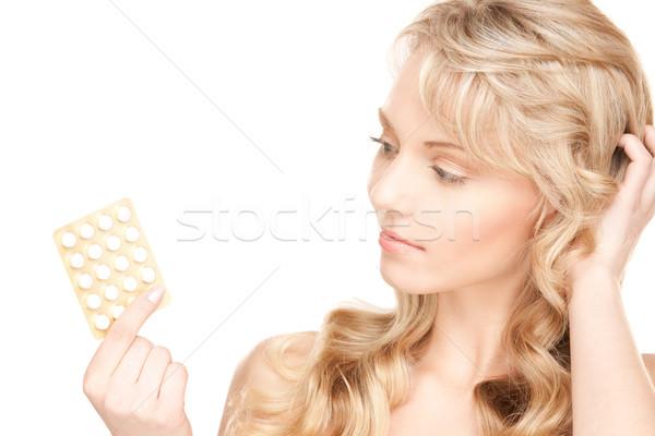 Pillole foto bianco donna medici Foto d'archivio © dolgachov