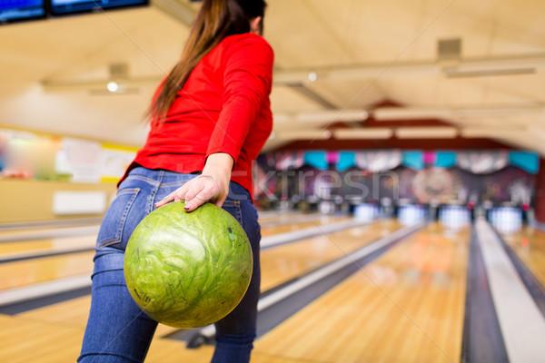 Kadın top bowling kulüp Stok fotoğraf © dolgachov