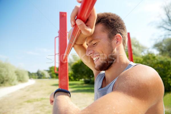 Zdjęcia stock: Człowiek · oglądać · odkryty · fitness · sportu