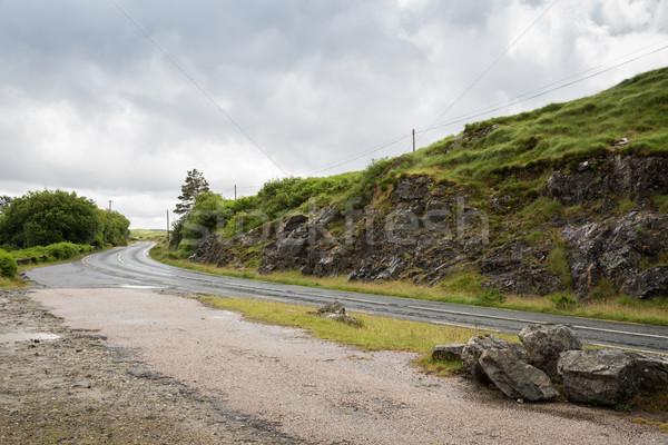 Asfalt weg Ierland reizen platteland berg Stockfoto © dolgachov