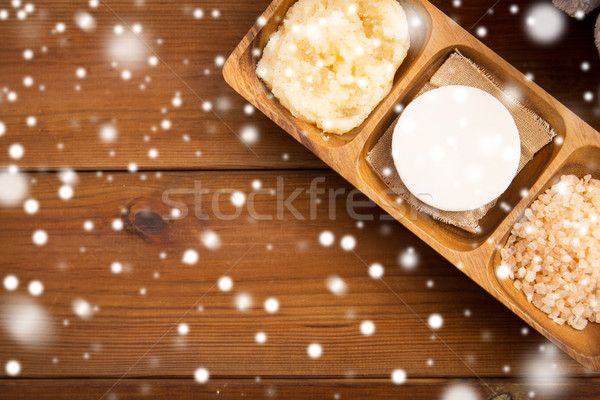 soap, himalayan salt and body scrub Stock photo © dolgachov