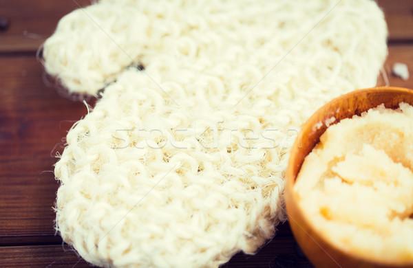 Közelkép test bozót csésze fa szépségszalon Stock fotó © dolgachov