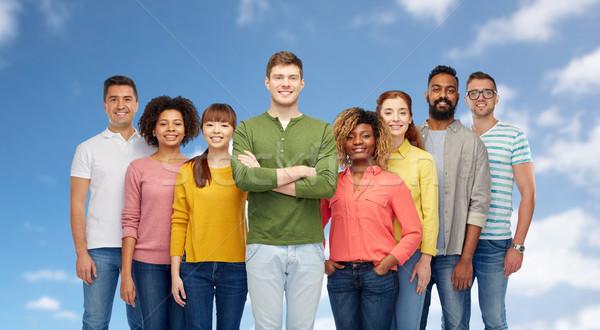 Foto stock: Internacional · grupo · feliz · sorridente · pessoas · diversidade