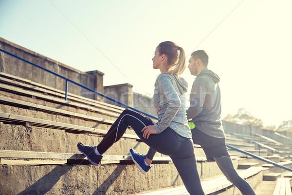çift bacak stadyum uygunluk spor Stok fotoğraf © dolgachov